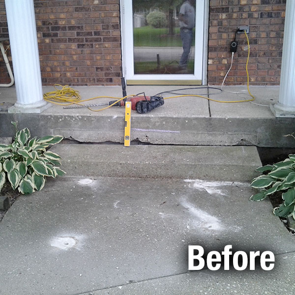 Cleveland - East Concrete Step Repair - Before