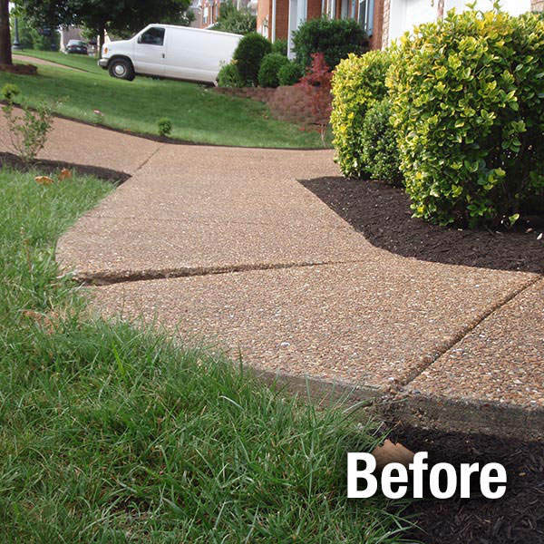 Cleveland – East Concrete Sidewalk Leveling - Before