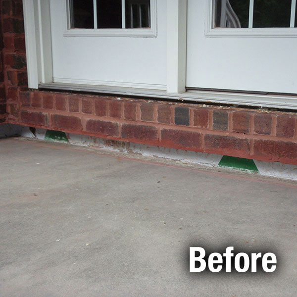 Cleveland – East Concrete Porch Leveling - Before