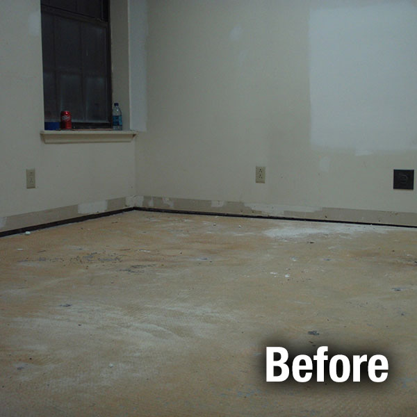 Cleveland – East​ Concrete Floor Leveling - Before