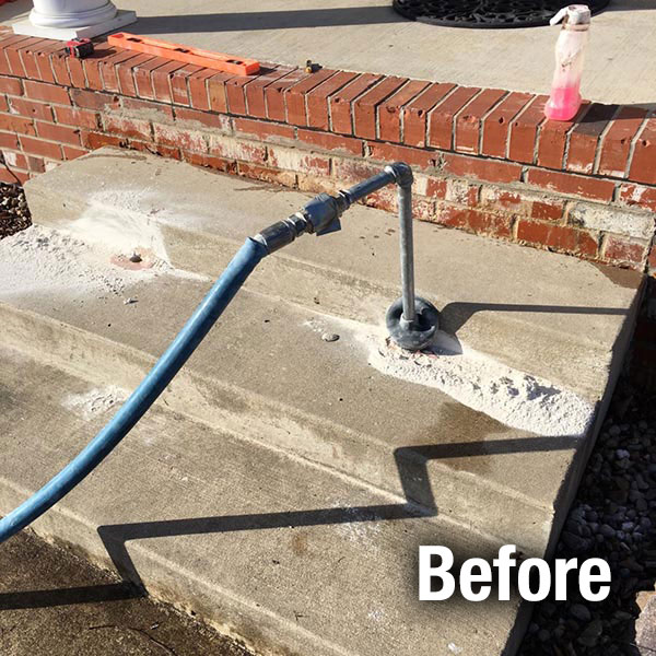 Cleveland – East​ Concrete Steps Leveling - Before