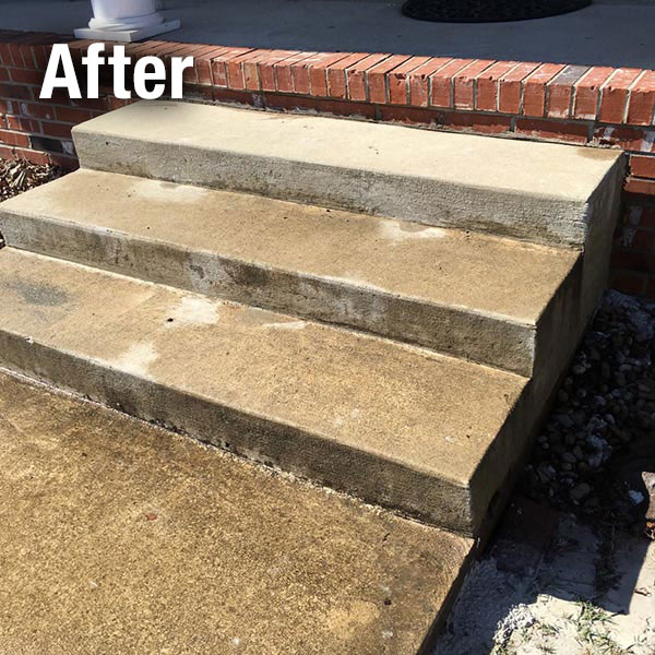 Cleveland – East​ Concrete Steps Leveling - After