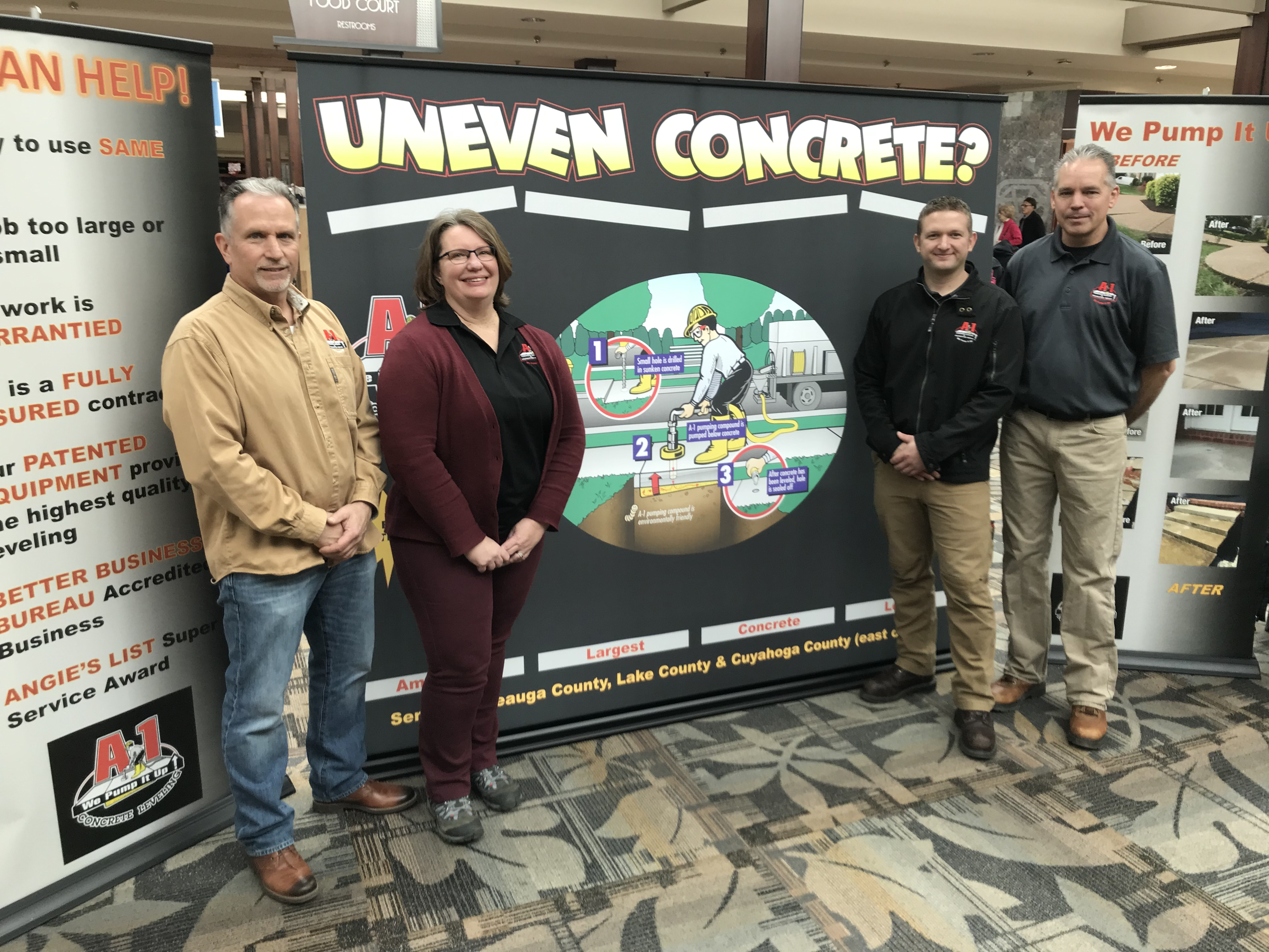 The A-1 Concrete Leveling - East Team