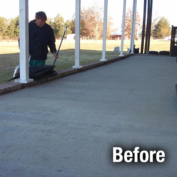 Cleveland U2013 East Concrete Patio Leveling   Before